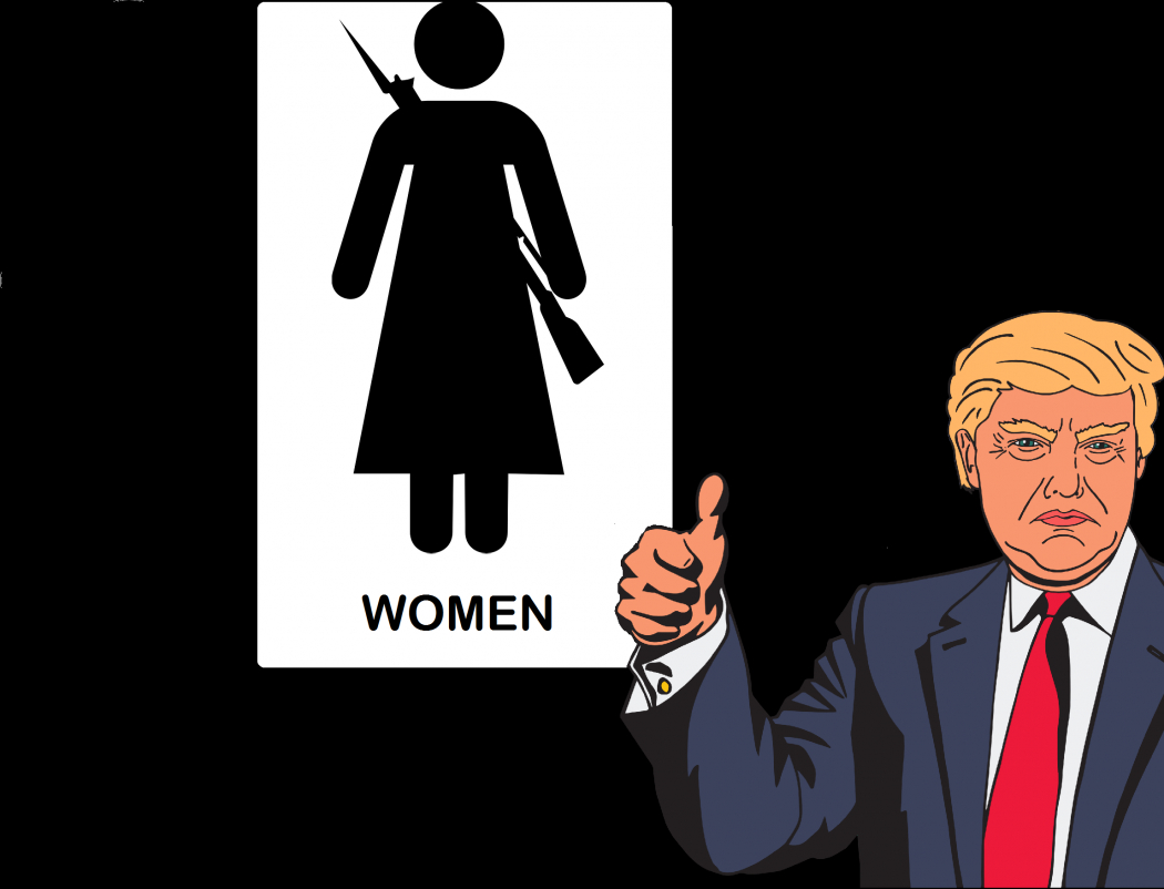 Trump Voters Support Anti-Trans Gun Dispensers in Public Restrooms