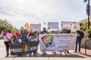 Kent PRIDE's March of Pride. October 14 2016. Photo by Corey Grau.