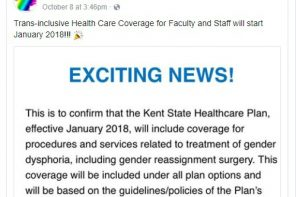 KSU Health Insurance to Offer Transgender Coverage for Faculty and Staff